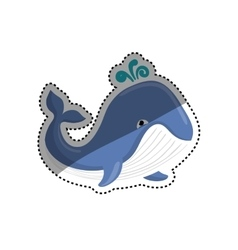 Sea whale cartoon vector image vector image
