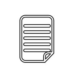 Sheet document paper vector