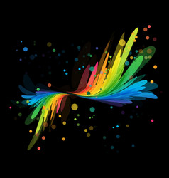 splash multicolored element on black vector image