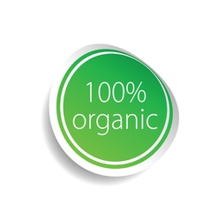 sticker organic green art vector image