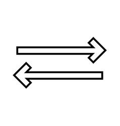sync line black icon vector image