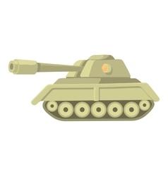 Tank icon cartoon style vector