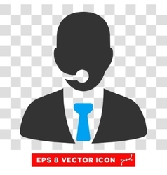 Telemarketing Operator Eps Icon vector