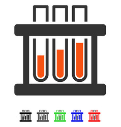 Test tubes flat icon vector