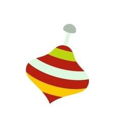 Toy spinning top icon vector