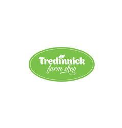 tredinnick-farm-shop-logo vector image