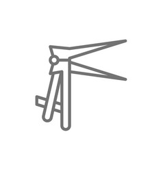 Vaginal speculums dilator line icon vector