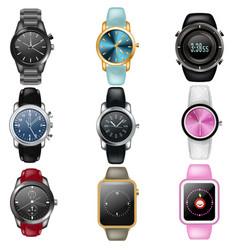 watch business wristwatch or fashion wrist vector image