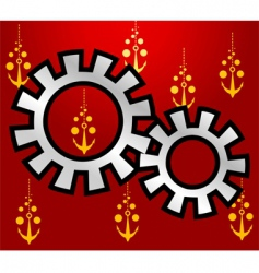 wheel gears vector image