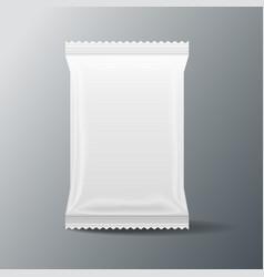 white blank food bag packaging 3 d vector image