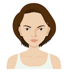 Woman with short hair vector