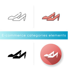 women shoes icon vector image