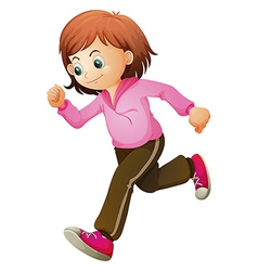 A young child jogging vector image vector image