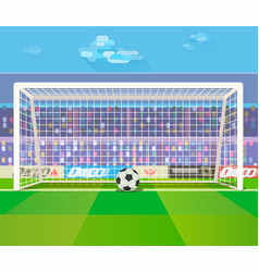 ball at gates on stadium vector image