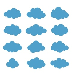 Clouds collection Cloud shapes pack vector image vector image
