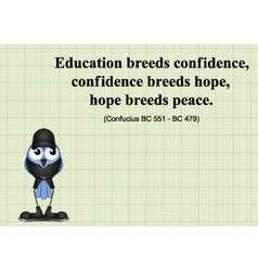 Education breeds confidence vector image