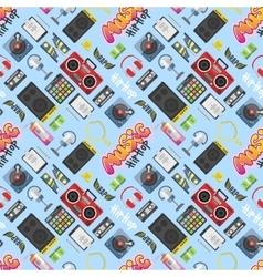 Hip hop pattern background vector image