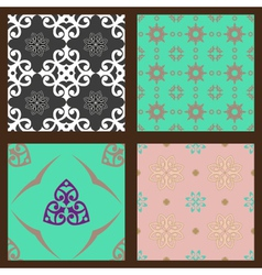 Set-2-seamless-colorful-patterns-oriental-ornament vector image