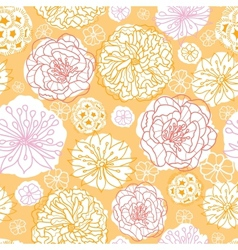Warm day flowers seamless pattern background vector image vector image