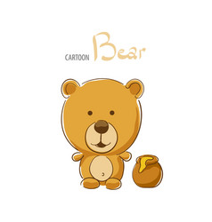 cute cartoon bear vector image vector image