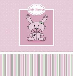 Post Stuffed rabbit vector image