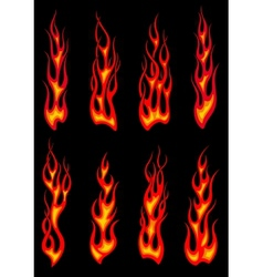 Tribal red flames icons vector image vector image