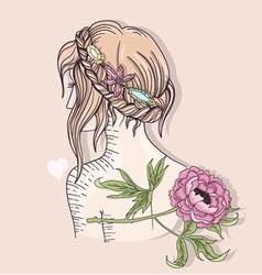 Cute fashion girl vector image vector image