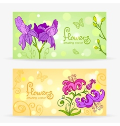 flowers card vector image