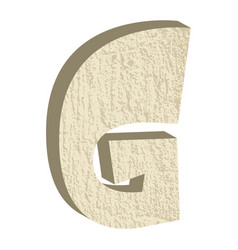 font type with rock or stone texture vector image