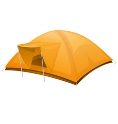 icons tourist tent vector image