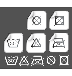 stickers with washing vector image vector image