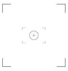 White and black viewfinder camera recording vector