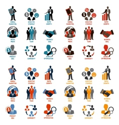 Business and Management Icons vector image vector image