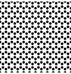 Dotted background in hexagonal arangement vector image vector image