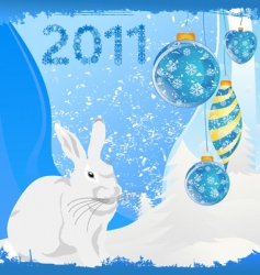 year of a rabbit vector image