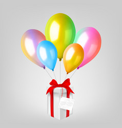 3d realistic colorful balloon set holiday vector image