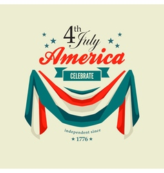 4 july swag bunting vector image