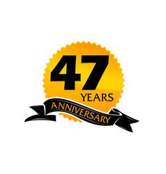 47 years ribbon anniversary vector