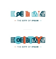 abstract city logo vector image