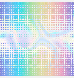 Abstract halftone double seamless border vector