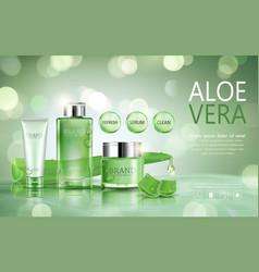 advertisement with aloe vera vector image