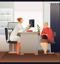 appointment at therapist flat composition vector image