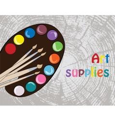 Art supplies for schoo vector image