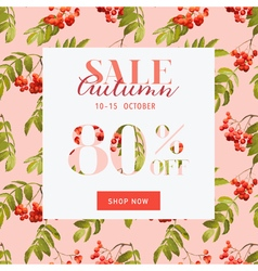 Autumn Sale Hortensia Banner - for Discount vector