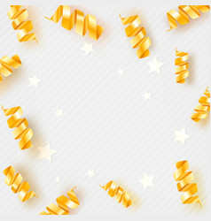 background with stars and cute confetti vector image