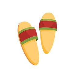 bath house sauna slippers icon item for pleasure vector image