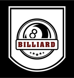billiard emblem vector image