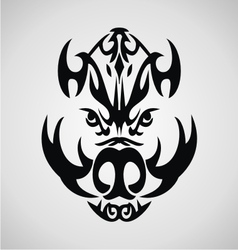 Boar Tribal vector
