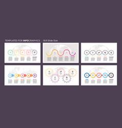 Business infographics presentation templates vector
