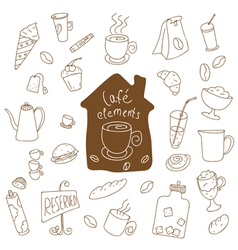 Cafe elements vector